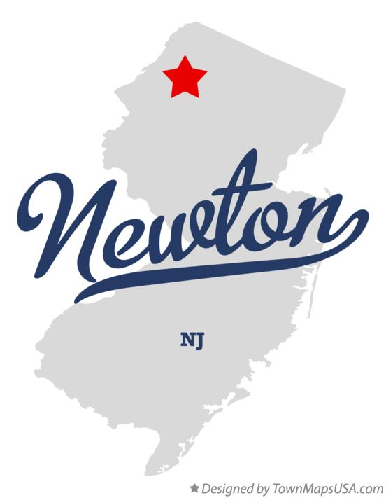 Map of Newton New Jersey NJ