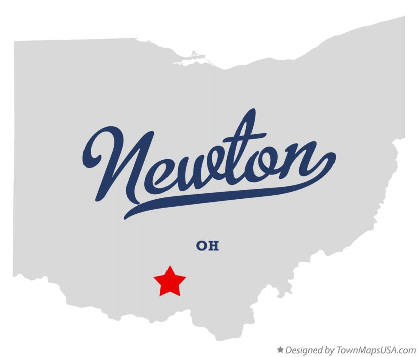 Map of Newton Ohio OH