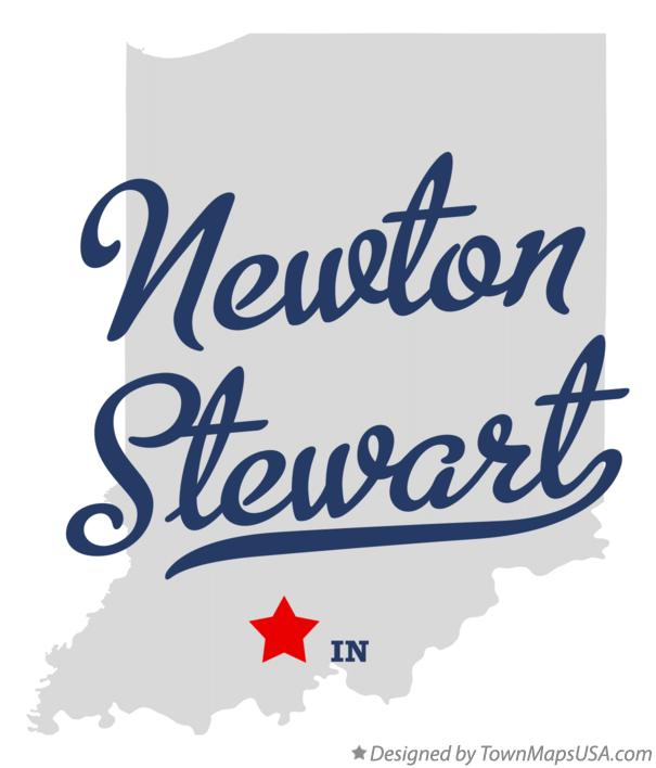 Map of Newton Stewart Indiana IN