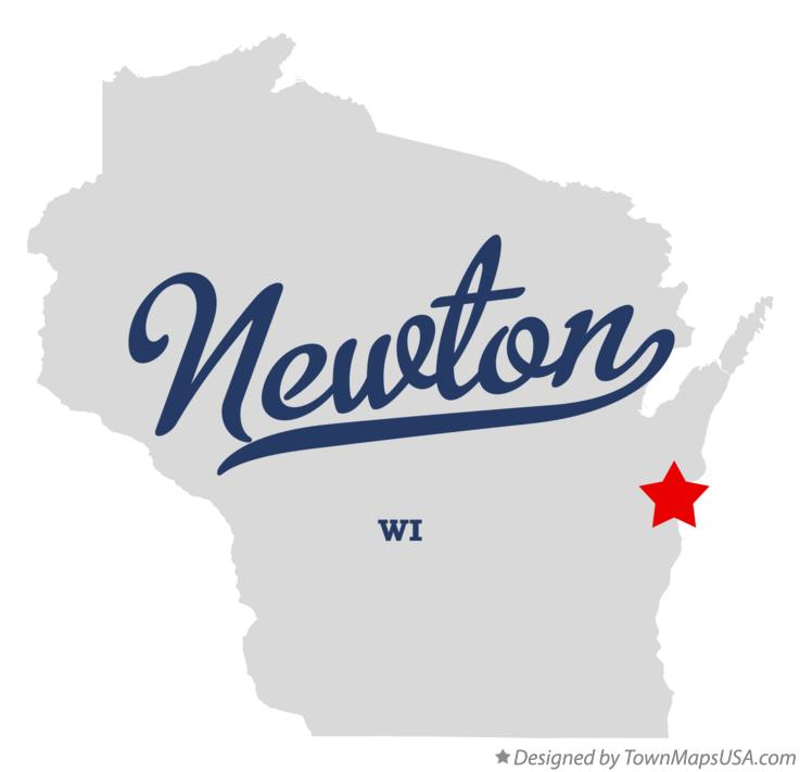 Map of Newton Wisconsin WI