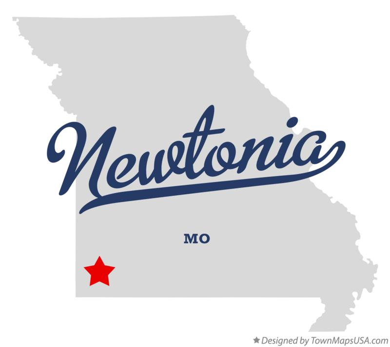 Map of Newtonia Missouri MO