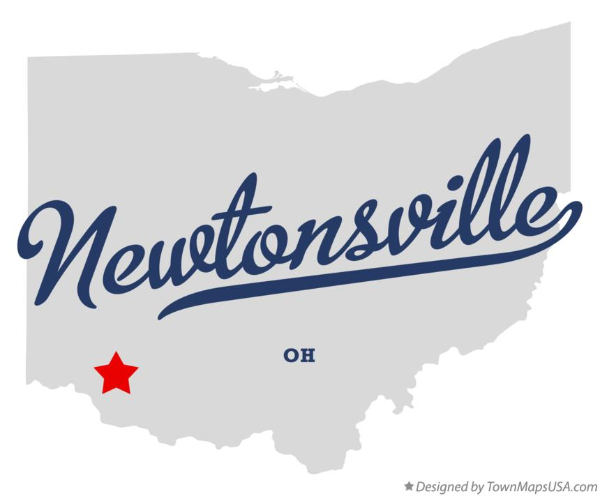 Map of Newtonsville Ohio OH