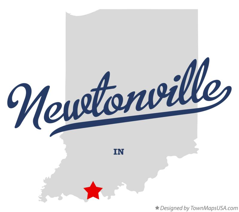 Map of Newtonville Indiana IN