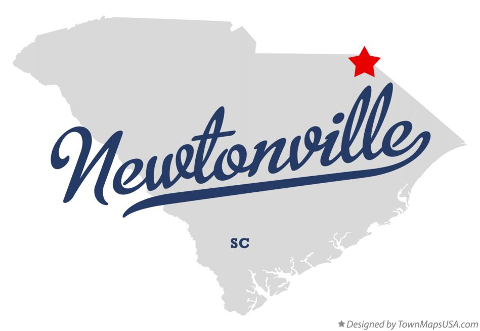 Map of Newtonville South Carolina SC