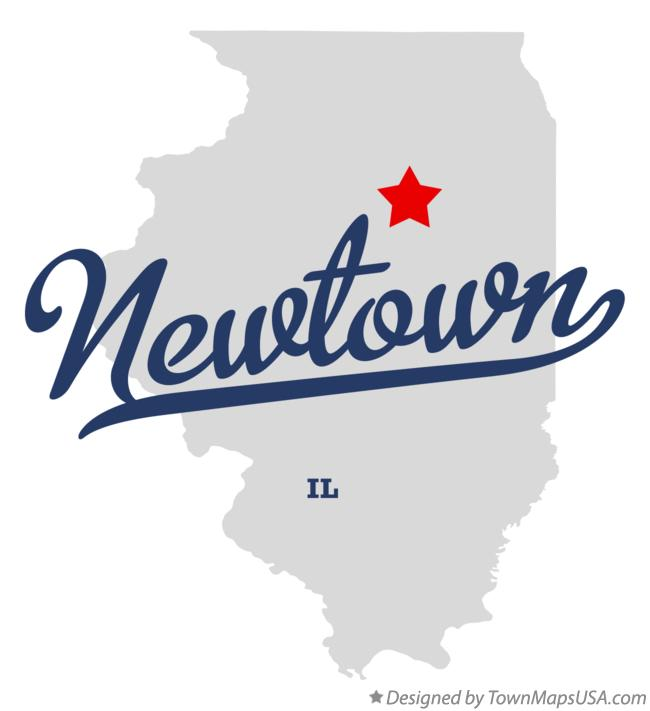 Map of Newtown Illinois IL