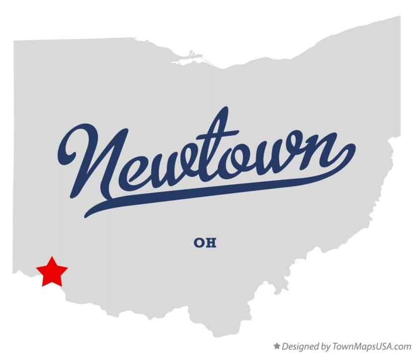 Map of Newtown Ohio OH