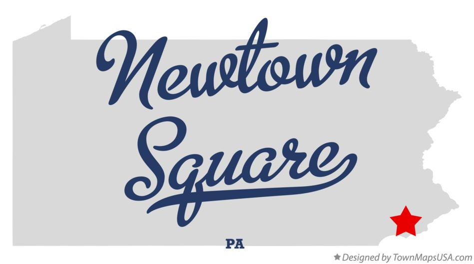 Map of Newtown Square Pennsylvania PA