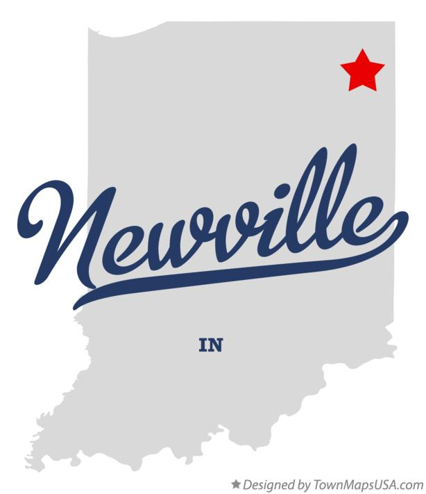 Map of Newville Indiana IN