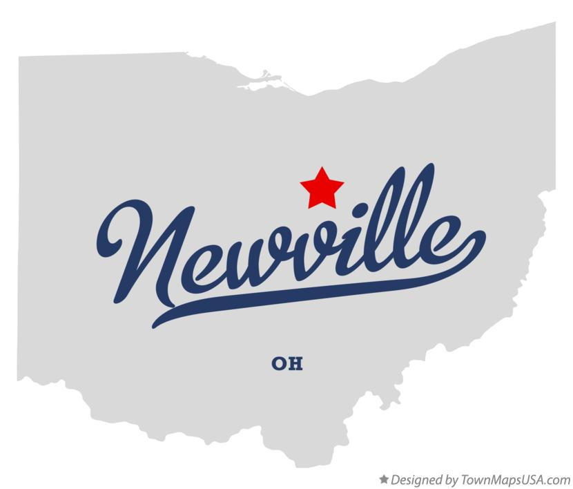 Map of Newville Ohio OH