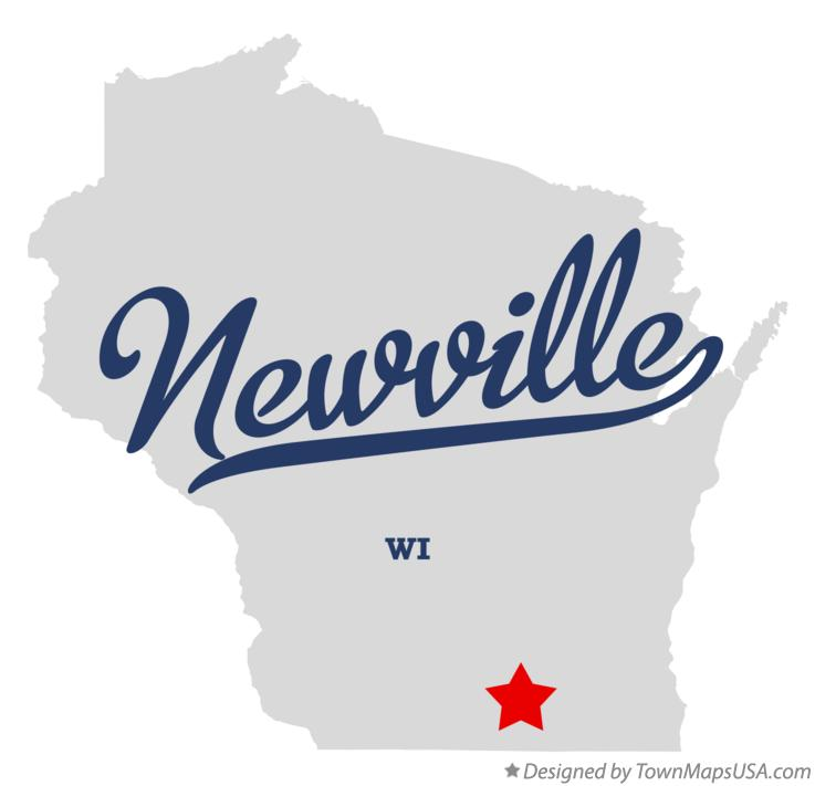 Map of Newville Wisconsin WI