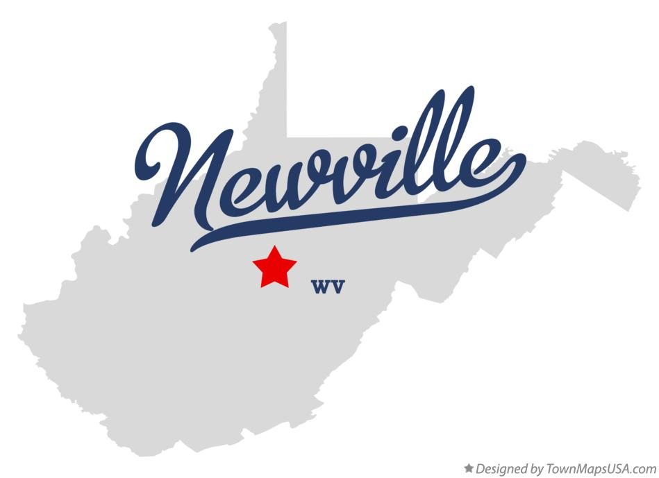 Map of Newville West Virginia WV