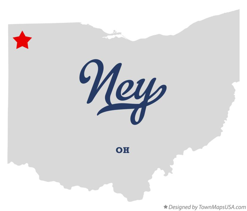 Map of Ney OH Ohio