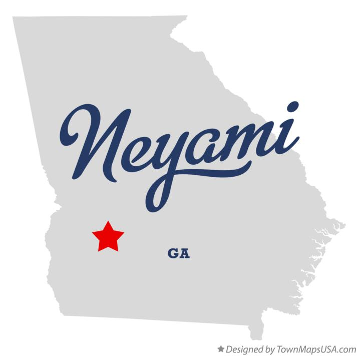 Map of Neyami Georgia GA