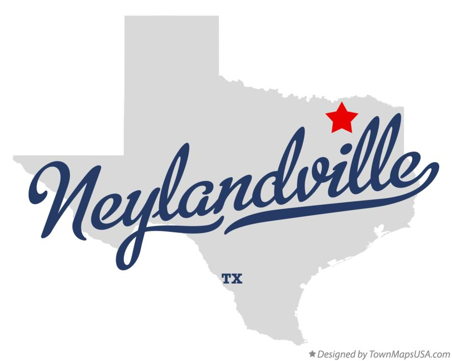 Map of Neylandville Texas TX