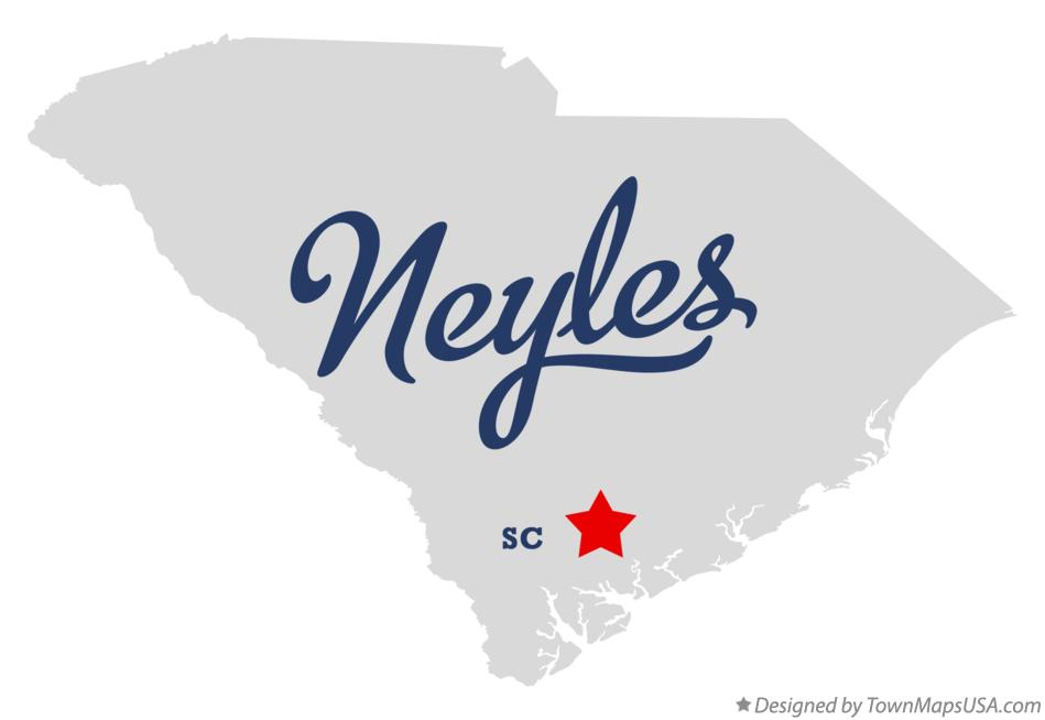 Map of Neyles South Carolina SC