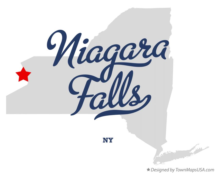 Map Of Niagara Falls Ny New York