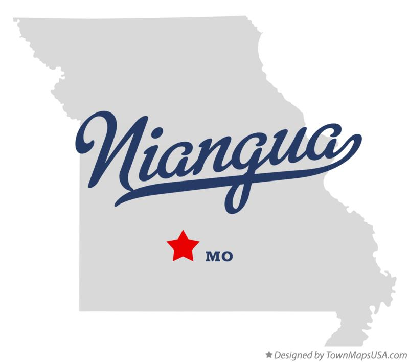 Map of Niangua Missouri MO