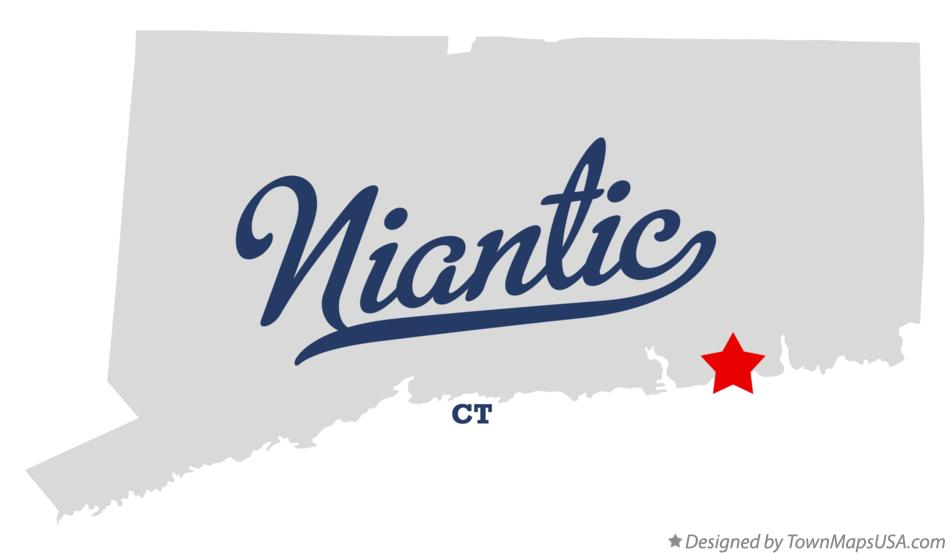 Map of Niantic Connecticut CT
