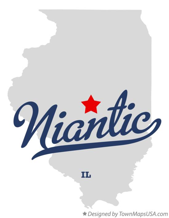 Map of Niantic Illinois IL