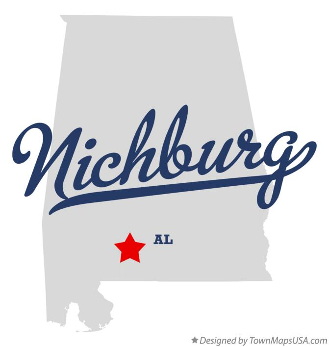 Map of Nichburg Alabama AL