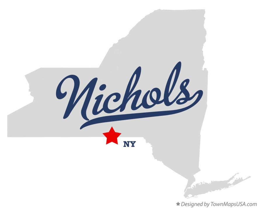 Map of Nichols New York NY