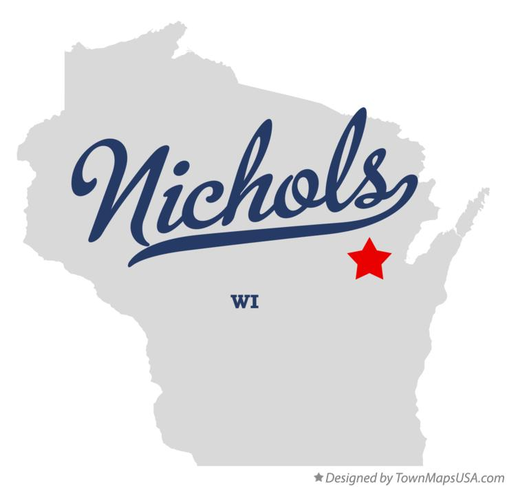 Map of Nichols Wisconsin WI