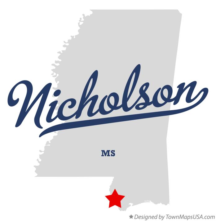 Map of Nicholson Mississippi MS
