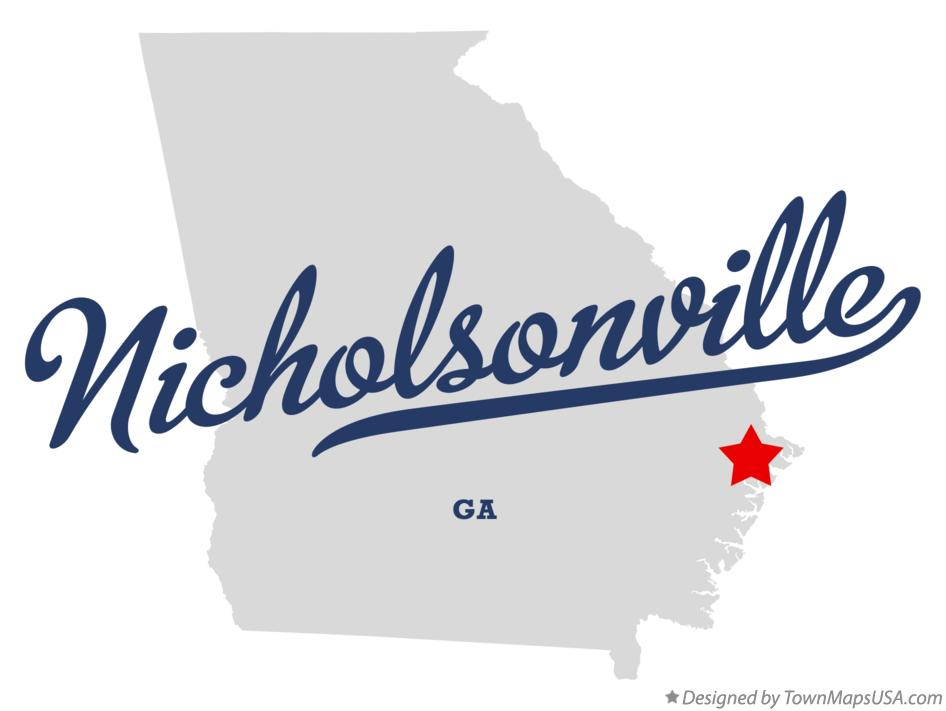 Map of Nicholsonville Georgia GA
