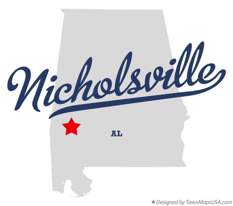 Map of Nicholsville Alabama AL