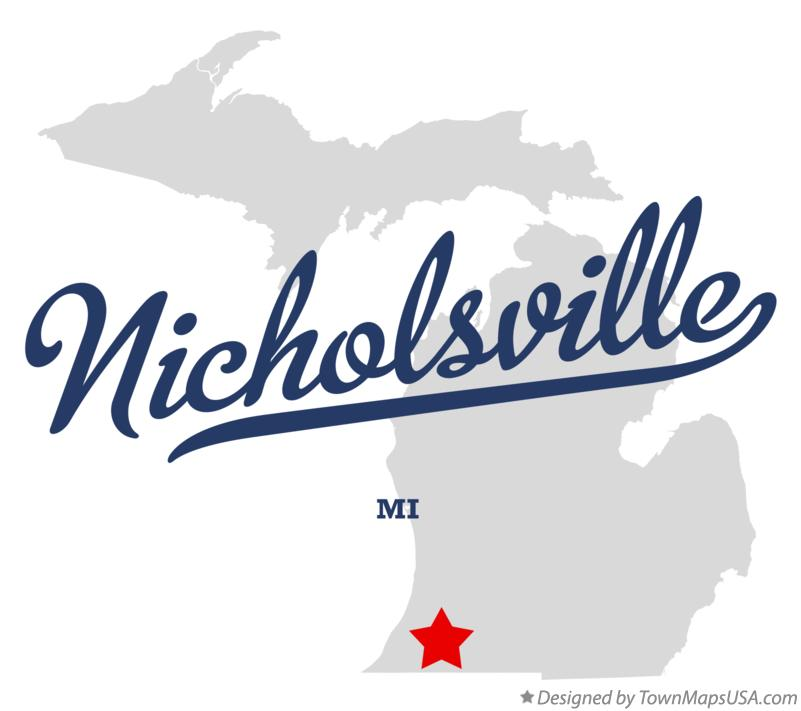 Map of Nicholsville Michigan MI