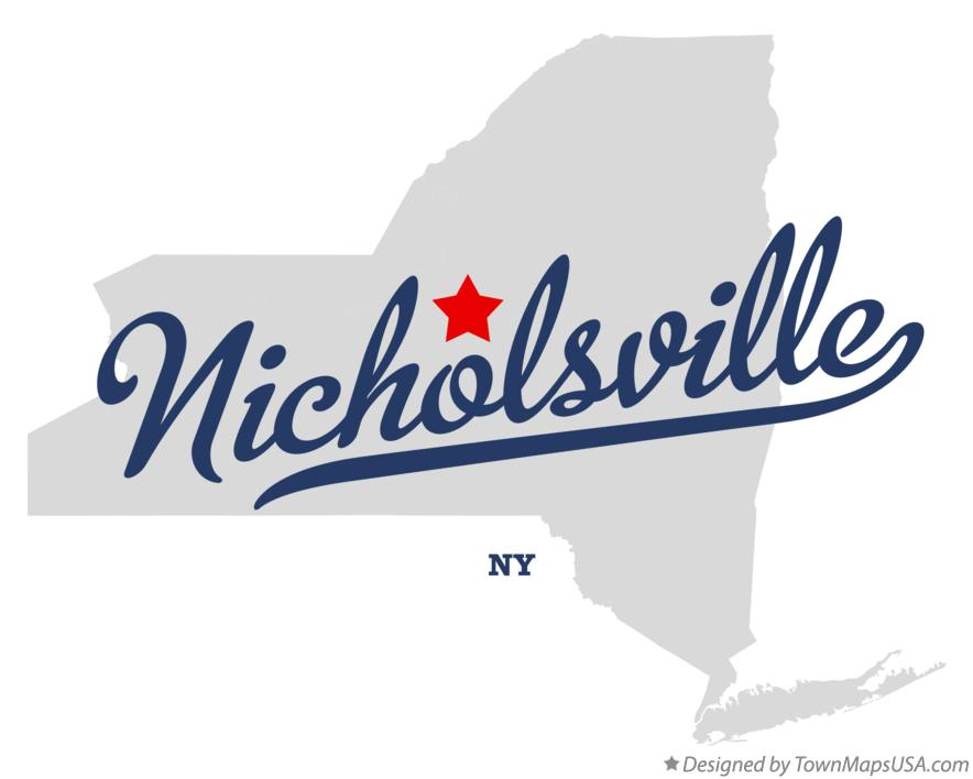 Map of Nicholsville New York NY