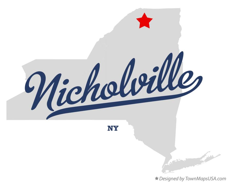 Map of Nicholville New York NY
