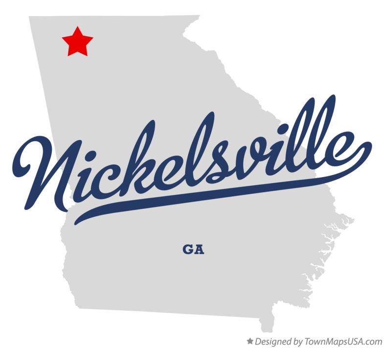 Map of Nickelsville Georgia GA