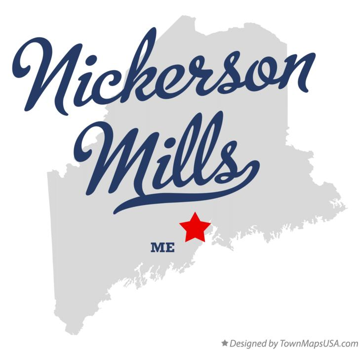 Map of Nickerson Mills Maine ME