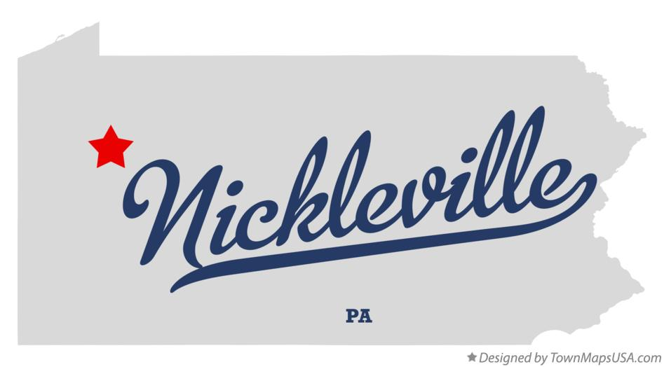 Map of Nickleville Pennsylvania PA