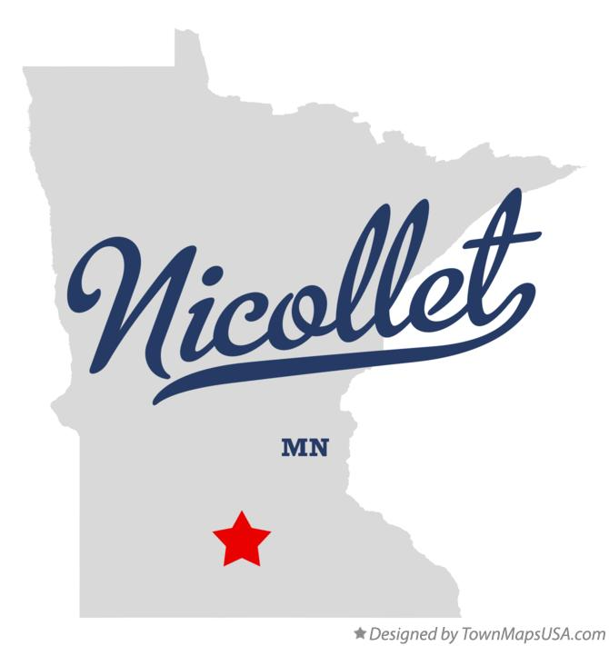 Map of Nicollet Minnesota MN