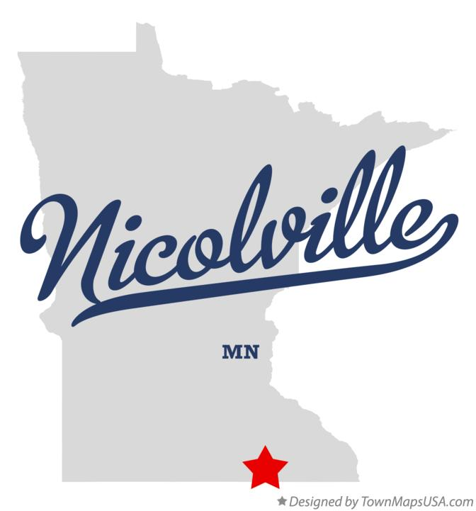 Map of Nicolville Minnesota MN