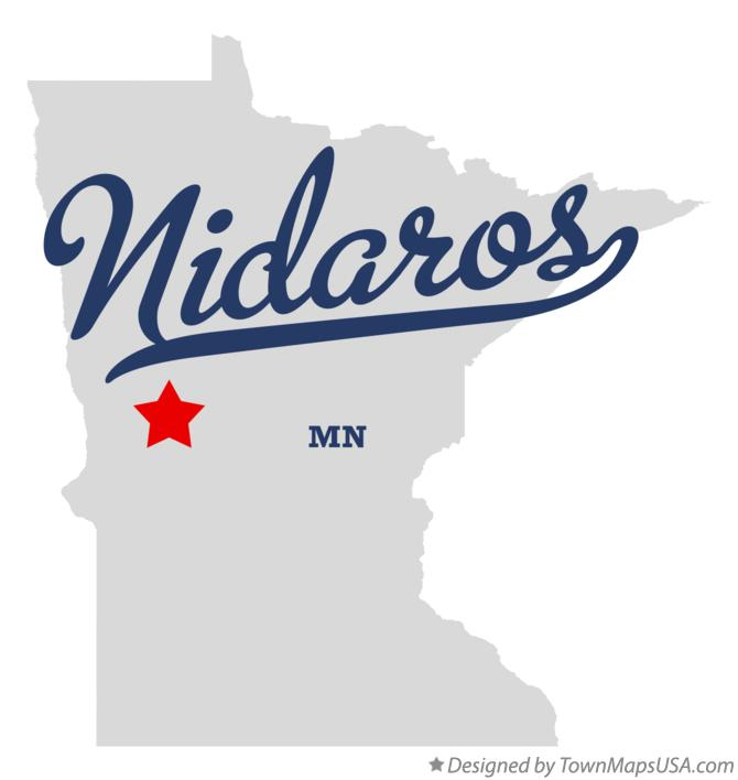 Map of Nidaros Minnesota MN