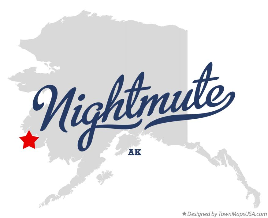 Map of Nightmute Alaska AK