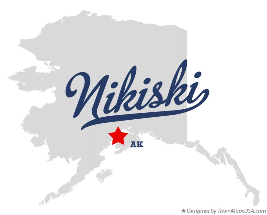 Map of Nikiski Alaska AK