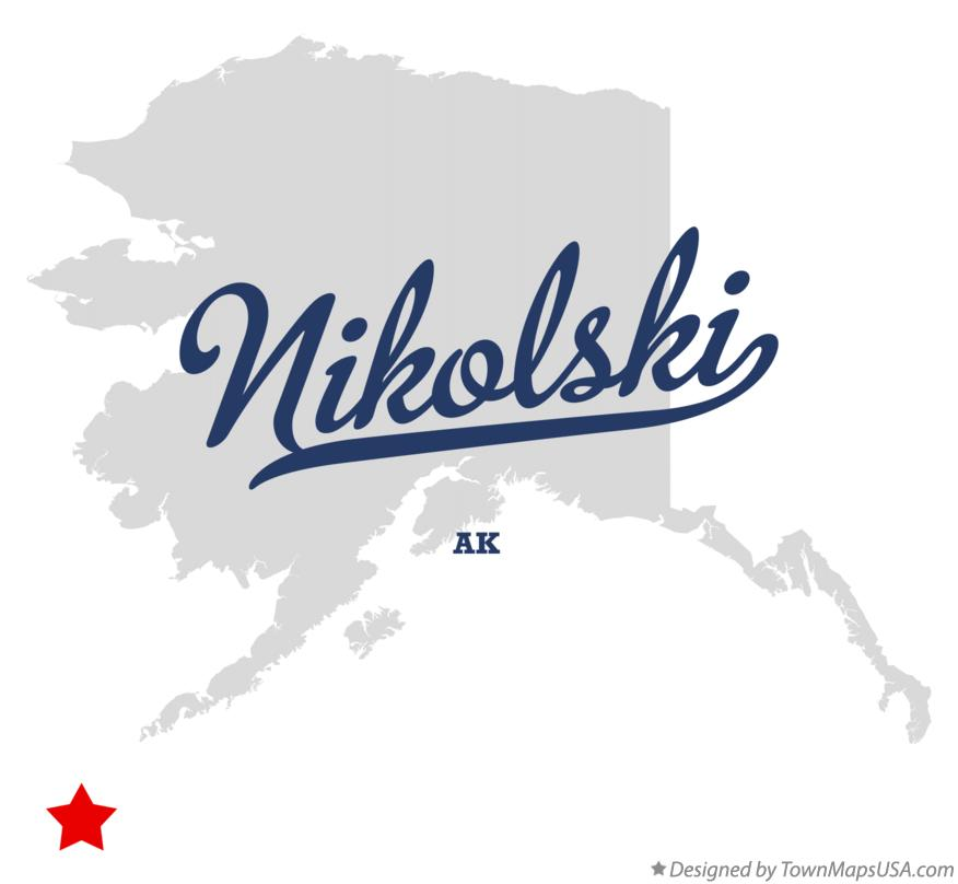 Map of Nikolski Alaska AK