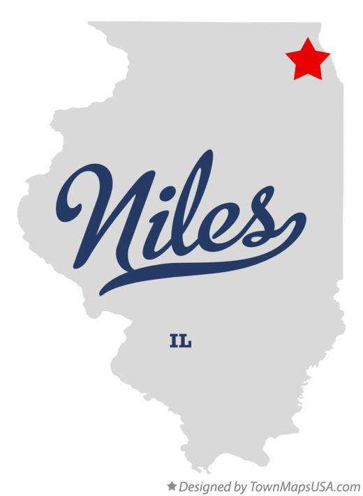 Map of Niles Illinois IL