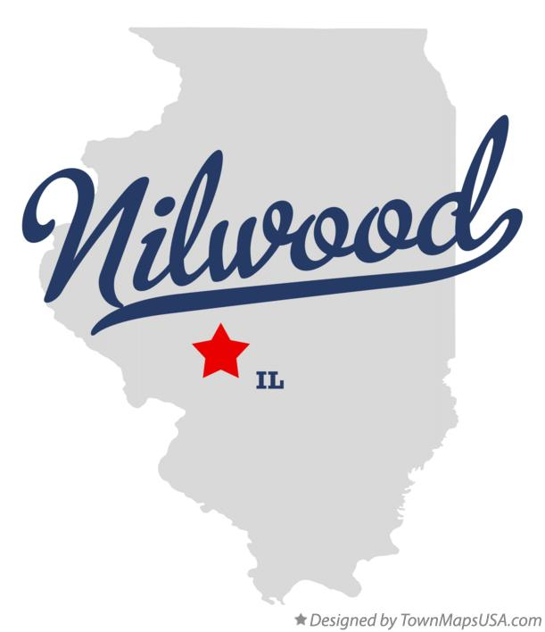 Map of Nilwood Illinois IL