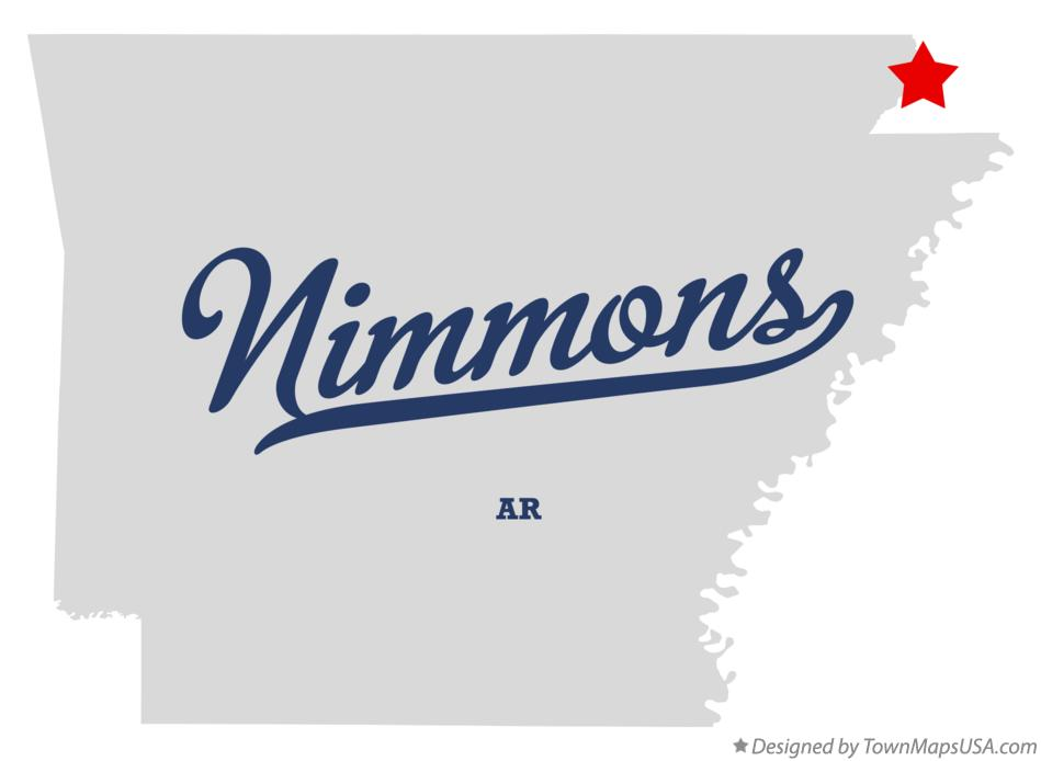 Map of Nimmons Arkansas AR