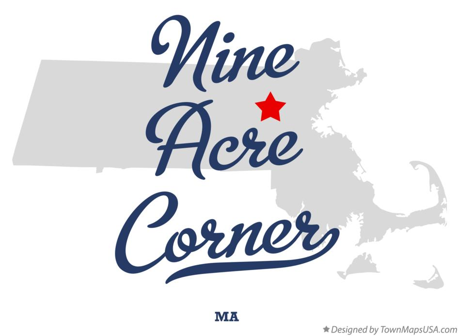 Map of Nine Acre Corner Massachusetts MA