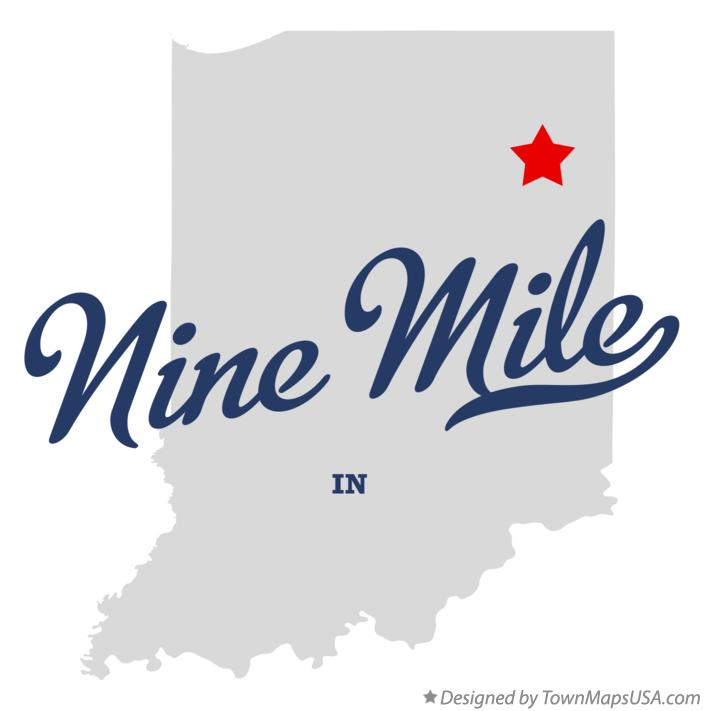 Map of Nine Mile Indiana IN