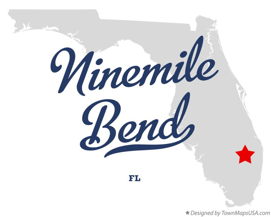Map of Ninemile Bend Florida FL