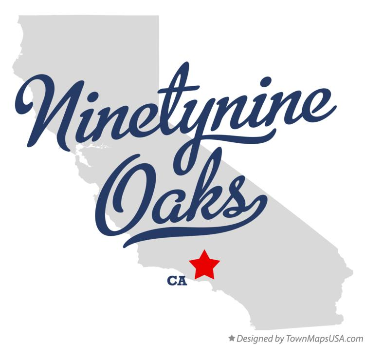 Map of Ninetynine Oaks California CA