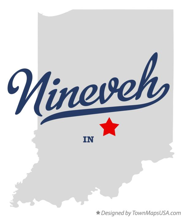 Map of Nineveh Indiana IN