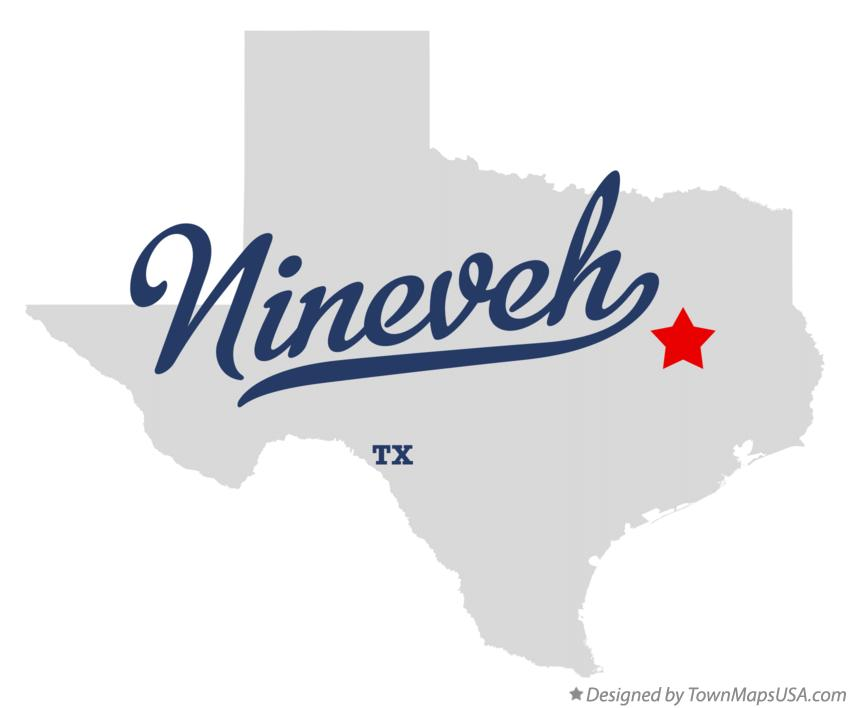 Map of Nineveh Texas TX